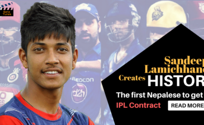 Sandeep Lamichhane makes history
