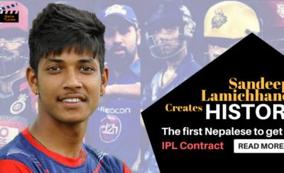 Sandeep Lamichhane makes history