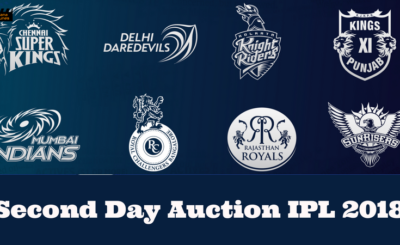 Second Day Auction IPL 2018