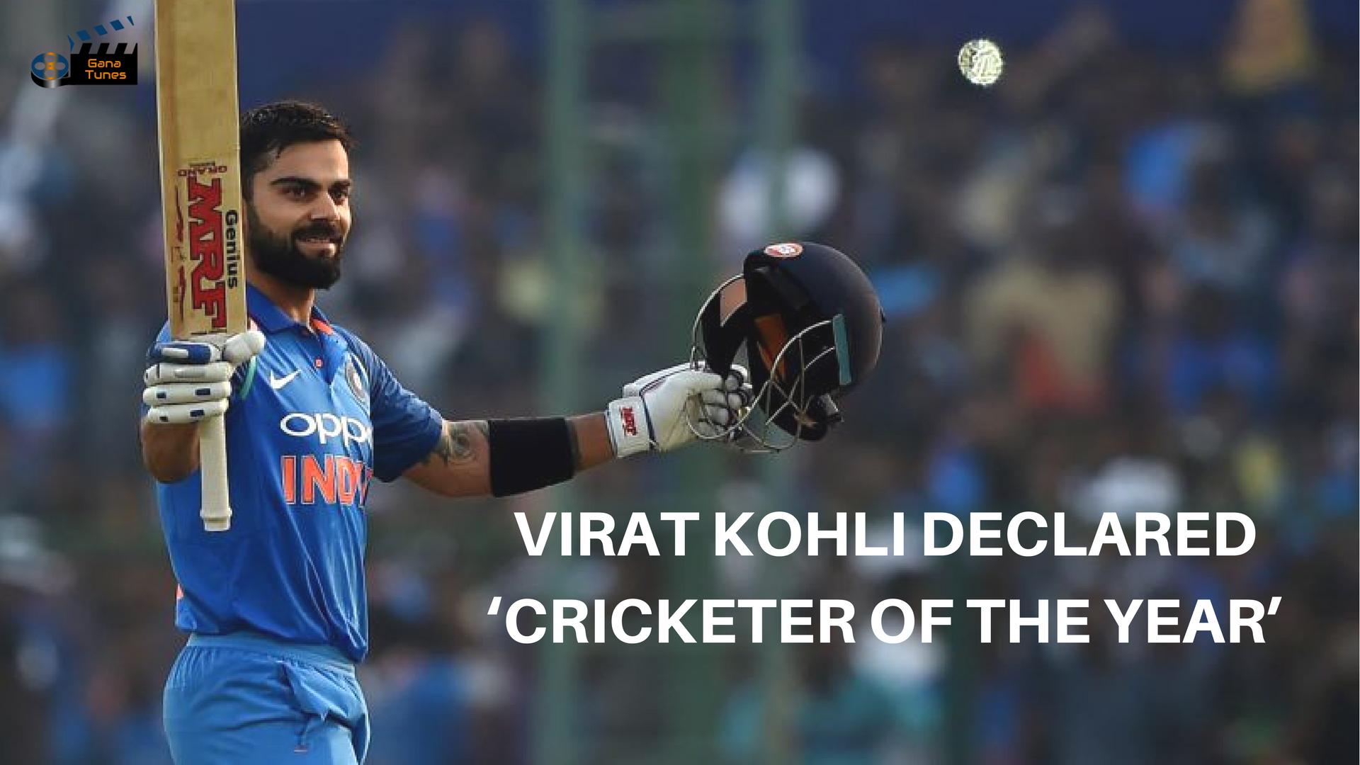 Cricketer of the year Virat Kohli