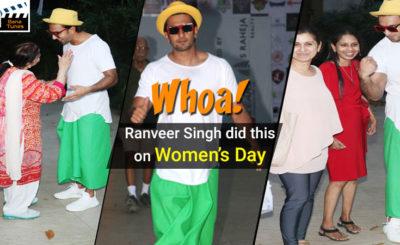 Whoa! Ranveer Singh did this on Women's Day