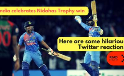 India celebrates Nidahas Trophy win