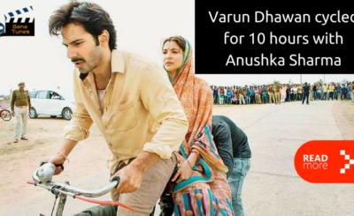 Varun Dhawan cycled with Anushka Sharma