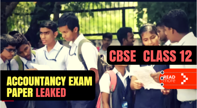 CBSE class 12 paper leaked