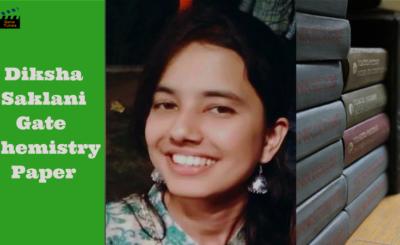 Diksha Saklani GATE chemistry paper