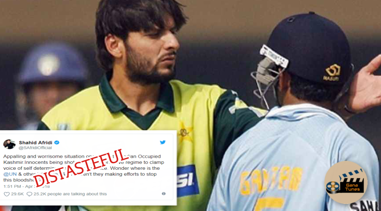 After Gambhir, Sachin and Virat BLASTS at this distasteful tweet of Shahid Afridi on Kashmir
