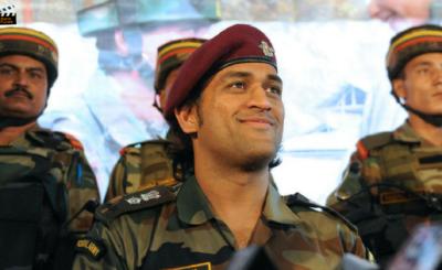Lt. Colonel MS Dhoni Padma Bhushan