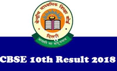 CBSE Class 10th result 2018