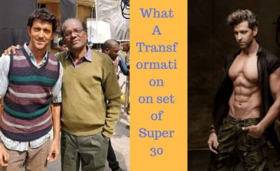 Hrithik deglam look in super 30