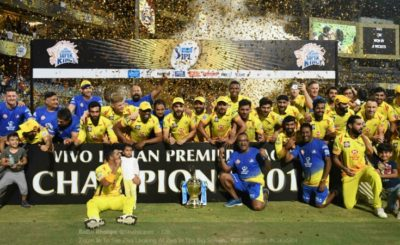 MS Dhoni And His Yellow Army Lift The IPL Trophy