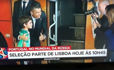 Cristiano Ronaldo Jumps Off The Bus