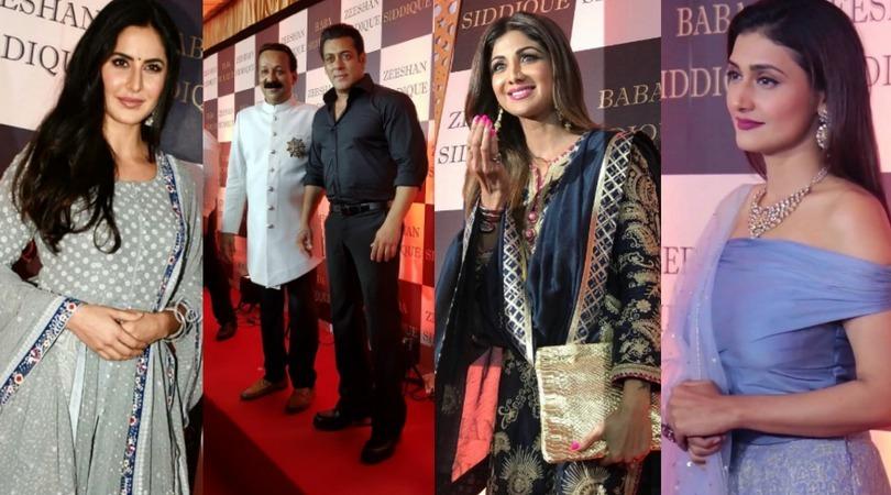 Salman Khan at Baba siddique iftaar barty
