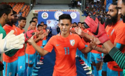 Sunil Chhetri in India vs Kenya