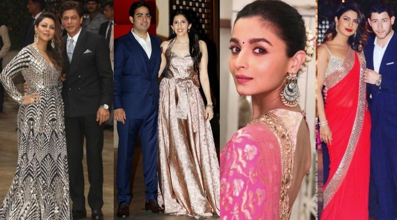 These Pictures Of SRK-Gauri, Alia, And Priyanka-Nick from Akash-Shloka