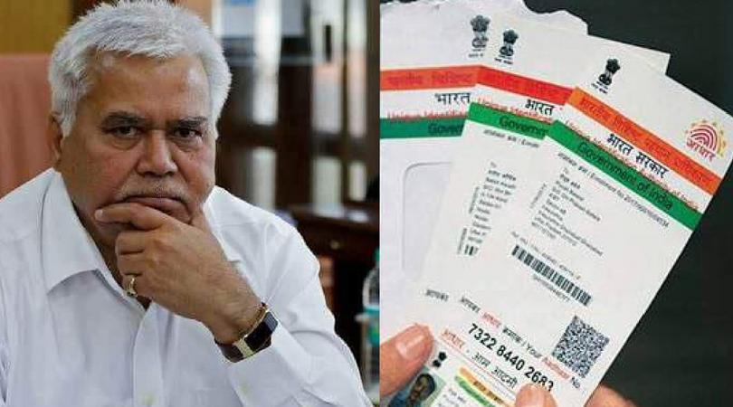 Aadhar Card TRAI chief R S Sharma