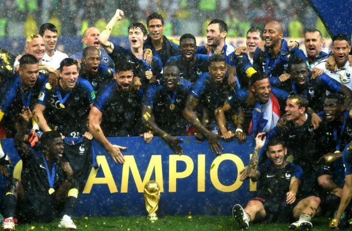 France wins FIFA world cup 2018 against Croatia