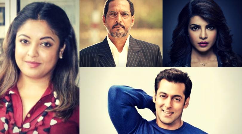 How Salman, Farhan, Priyanka And other B-town Celebs Reacted To Tanushree Dutta's Accusations On Nana Patekar.