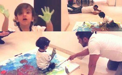 Salman nephew Aahil