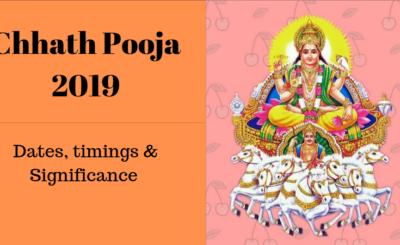 Chhath Puja 2019 Dates