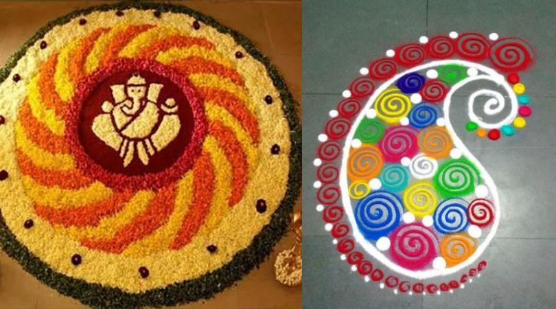 Rangoli designs Diwali 2018