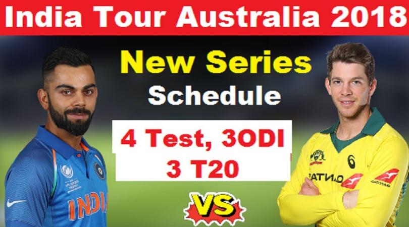 IndvsAustralia 2018 schedule