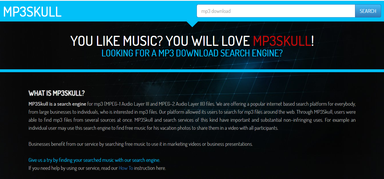 mp3skull search engine